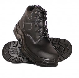 BLACK HIKER BOOTS WITH STEEL TOE CAP