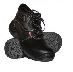 BLACK ROGUES BOOTS WITH STEEL TOE CAP
