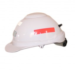 CAP NIKKI WHITE C/W BRACKET + REFL TAPE (red and silver)