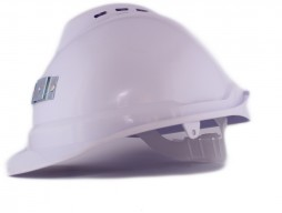 HARD HAT NEW NIKKI 2 OPEN VENT WHITE C/W STD LINER + CAP LAMP BRACKET