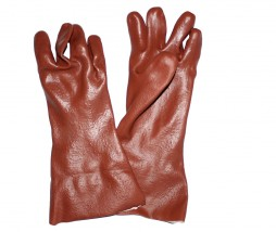 GLOVES PVC RED HEAVY DUTY 20CM PE13