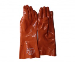 GLOVES NITRILE ORANGE REINFORCED 400MM DF40RXX