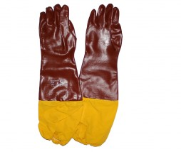 GLOVES PVC BROWN 60CM XTRA/60