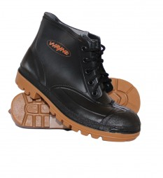 BOOTS PVC BLACK MINER ANKLE STC 1860