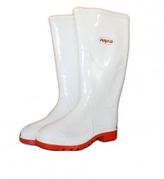 GUMBOOTS PVC MENS 1030 NSTC WHITE AND RED SOLE