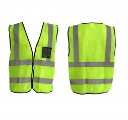 REFLECTIVE VEST LIME C/W  ZIP+ID POUCH