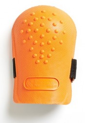 KNEE GUARDS ORANGE WITH SINGLE STRAP