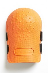 GUARDS KNEE ORANGE PVC WITH DOUBLE STRAPS