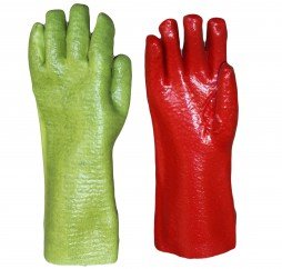 GLOVES PVC RED GREEN REINFORCED 400MM CENTURION PE31XRG