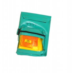 FIRST AID AND BOOK POUCH GREEN COMES WITH REFILL
