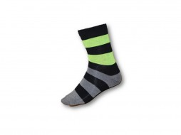 FUNKY SOCKS MULTI COLOURED GREY BLACK & LIME GREEN