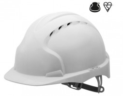 EVO®2 Safety Helmet with Slip Ratchet - White - Vented