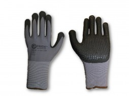 PRIDE TERRY COTTON SHELL PVC DOT GLOVES
