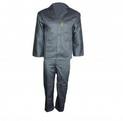 PRIDE CONTI SUIT OVERALL GREY POLYCOTTON