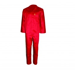 PRIDE CONTI SUIT OVERALL RED POLYCOTTON