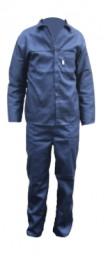 2PC ROYAL POLYESTER COTTON OVERALL - NAVY BLUE