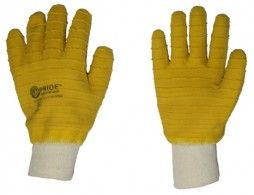 PRIDE JERSEY LINER LATEX FULLY DIPPED GLOVES WITH KNIT WRIST