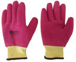 PRIDE PINK HIGH GRADE POLYESTER SHELL GLOVES