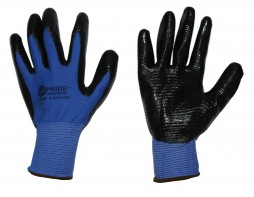 PRIDE POLYESTER SHELL FLAT NITRILE GLOVES
