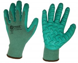 PRIDE ANTI-VIBRATION COTTON SHELL & LATEX COATED GLOVES