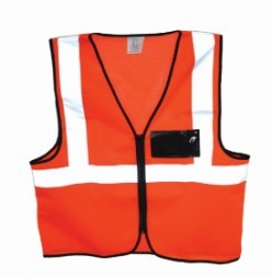 PRIDE ORANGE MESH SAFETY VEST