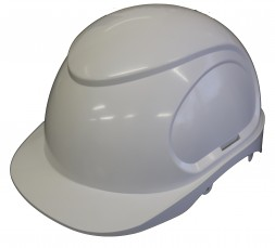 HARD HAT WHITE ARMOURDILLO SHELL, CLOSED VENT