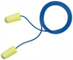 NEON YELLOW CORDED EARPLUG - DISPOSABLE