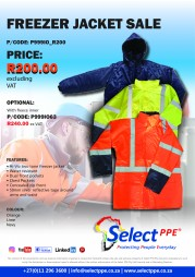 R200 - FREEZER JACKET SALE
