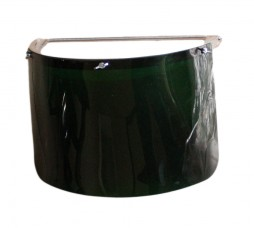 VISOR COMES WITH BROW GUARD 3MM AND HALF DIP GREEN INSERT