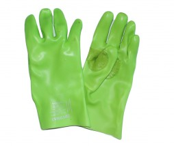 GLOVES PVC LIME REINFORCED 270MM SARAGEN DD PS2AX