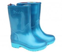 TURQUOISE AND SKY BLUE KIDDIES GUMBOOTS