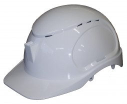 ARMOURDILLO SAFETY HELMET WITH RATCHET LINER AND BRACKET,  OPEN VENT